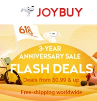 3 Year Anniversary with Tremendous Sales  From $0.49 to 80% OFF